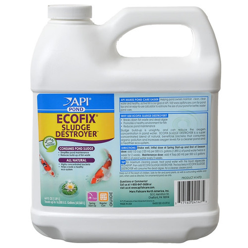 API Pond Care EcoFix Sludge Destroyer 1 /2 Gallon 64oz. 147 D