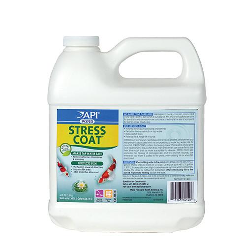 API Pond Care Stress Coat Plus 1/2 Gallon 64 oz. Fish and Water Conditioner 140 D