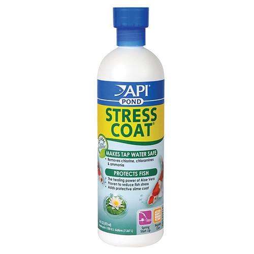 API Pond Care Stress Coat Plus 16 oz. Fish and Water Conditioner 140 B