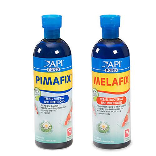 API Pond Care MelaFix 16 oz and Pimafix 16 oz Kio and Goldfish Remedy Kit 176 B 178 B