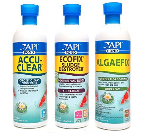 API Pond Care Bundle AccuClear EcoFix & AlgaeFix 16 oz. Containers 142B 147B 169B