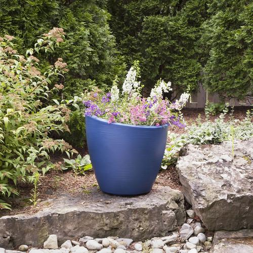 Mayne Modesto 20 in Round Planter Neptune Blue 8879-NB