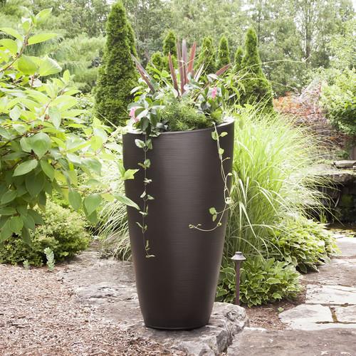 - Mayne Modesto 42 inch Tall Planter Espresso 8881-ES