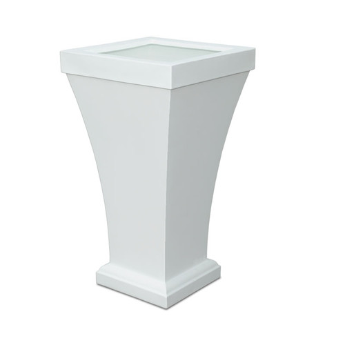 Mayne Bordeaux 40 Inch Tall Planter White 8802-W