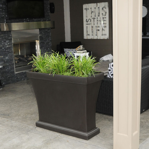 Mayne Bordeaux Trough Planter Espresso 8890-ES