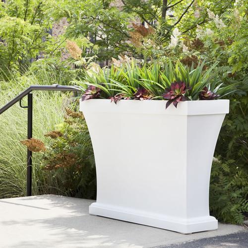 Mayne Bordeaux Trough Planter White 8890-W