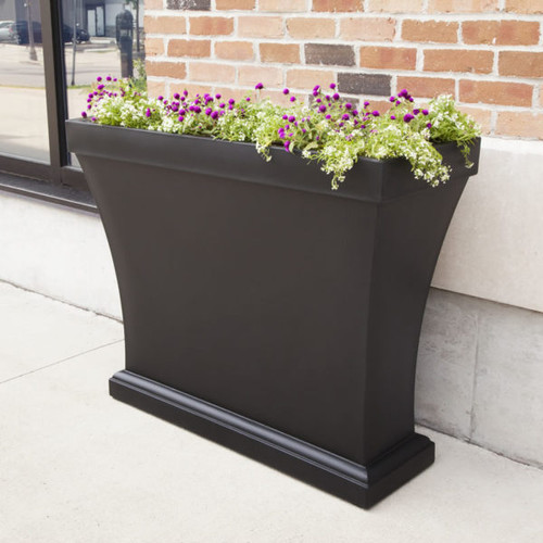 Mayne Bordeaux Trough Planter Black 8890-B