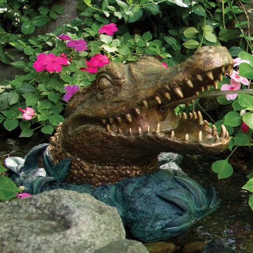 Aquascape Alligator Head Spitter Fountain With Pump AQS 78208
