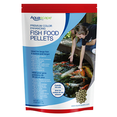 Aquascape Premium Color Enhancing Koi Fish Food Large Pellets 4.4 lbs 98875