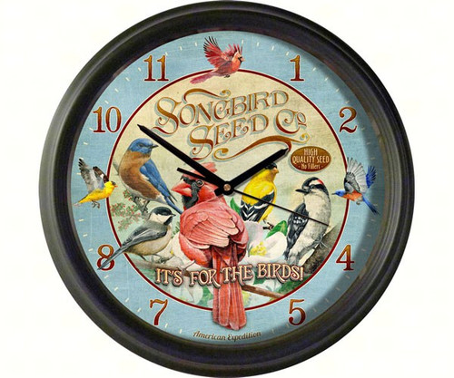 American Expedition Songbird Seed Company Wall Clock AMEWCLK428