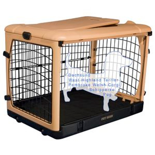 """Pet Gear """"The Other Door"""" Steel Crates, Pad and Carry Bag TAN/BLACK PG5927TN"""