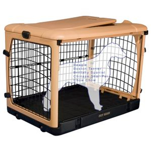 """Pet Gear """"The Other Door"""" Steel Crates, Pad and Carry Bag TAN/BLACK PG5936TN"""
