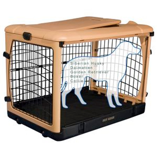 """Pet Gear """"The Other Door"""" Steel Crates, Pad and Carry Bag TAN/BLACK PG5942TN"""