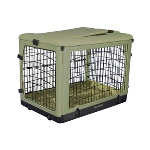 """Pet Gear """"The Other Door"""" Steel Crates, Bolster Pad and Carry Bag SAGE PG5927BSG"""