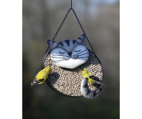 Gift Essentials Black & White Cat Mesh Birdfeeder GEF1003