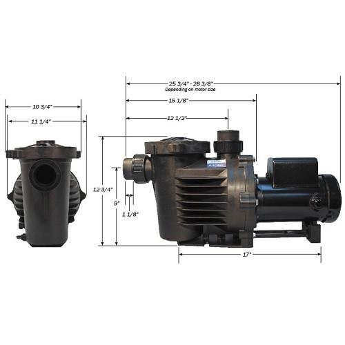 Performance Pro Artesian External Pump A2-1/4-58 -C Low RPM 5670 GPH CORDED (A2-1/4-58-C)