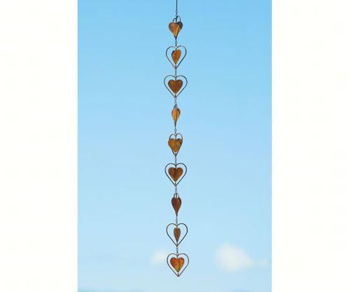 Ancient Graffiti Hearts Flamed Hanging Ornament ANCIENTAG87075