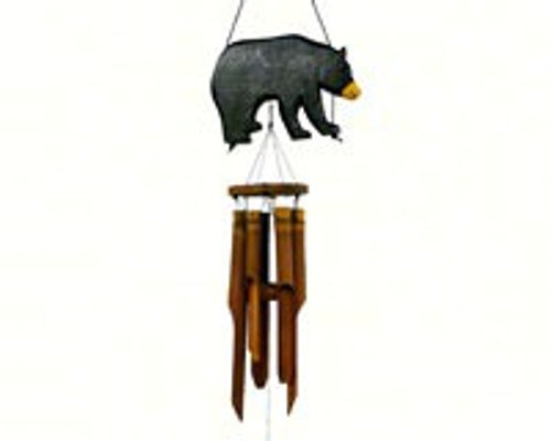 Cohasset Gifts Black Bear Silhouette Chime CH171BBS