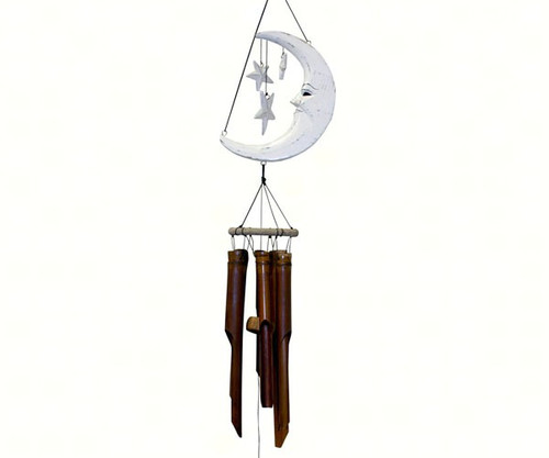 Cohasset Gifts Moon & Stars White Finish Chime CH179W