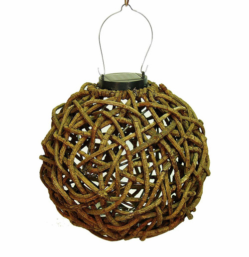 Echo Valley Rattan Lumisphere String Light Lantern EV4580SL