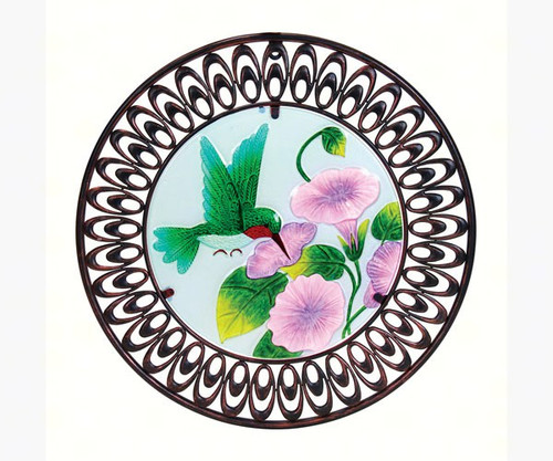 Exhart Hummingbird Glass Wall Art EX20604