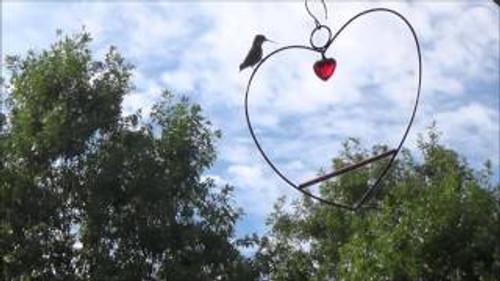Songbird Essentials Tweet Heart Hummingbird Birdie Swing Black SE801