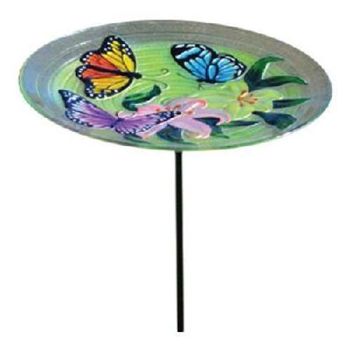 Songbird Essential Butterfly Trio Staked Birdbath