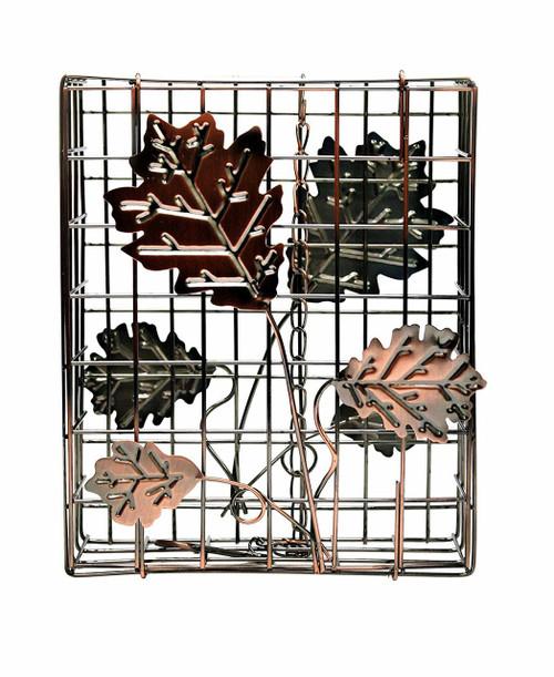Heath Copper Decorative Leaf Large Suet and Seed Cake Cage Bird Feeder HEATH2307