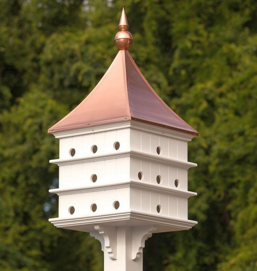 Fancy Home Products Purple Martin House 24 Room Purple Martin House With Polished Copper Roof PMHSQ24BC