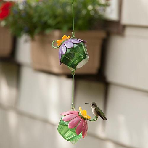 Nature's Way Purple Single Flower Hummingbird Feeder NWSFHF2