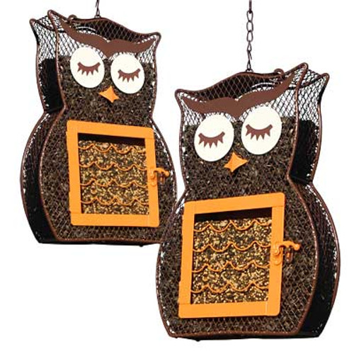 Heath Owl Duo Dual Seed and Suet Bird Feeder 2 Pack HEATH 21703