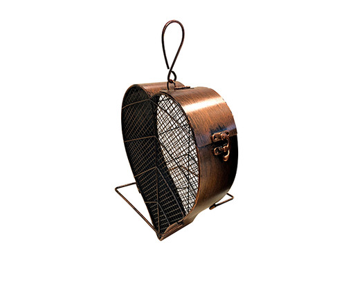 Heath Copper Leaf Mesh Feeder 21707