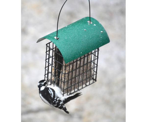 Songbird Essentials Deluxe Double Suet Cage with Green Roof 106