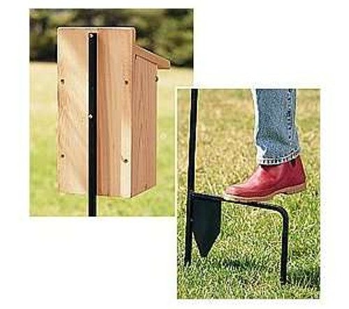 Nature House Bluebird House Pole Step In Kit RT8 Made in USA (RT8)