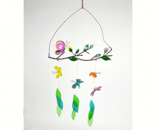 Gift Essentials Butterfly On A Branch Wind Chime GEBLUEG500