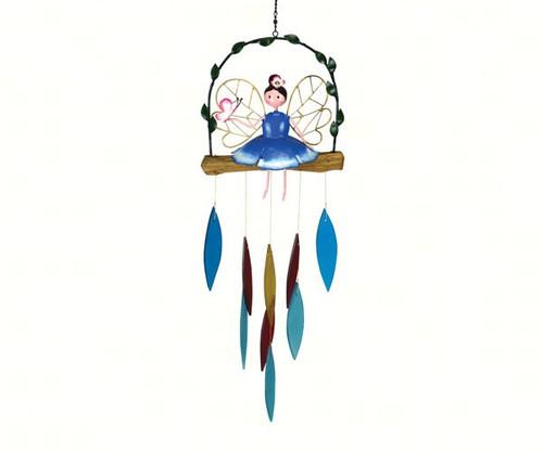 Gift Essentials Blue Garden Fairy Wind Chime GEBLUEG506