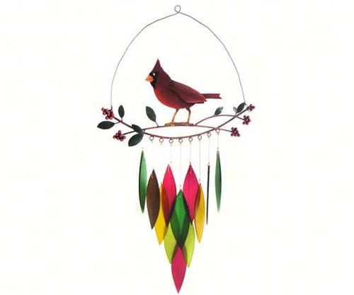 Gift Essentials Cardinal on Branch Wind Chime GEBLUEG434