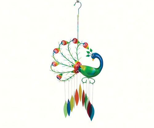 Gift Essentials Pierre the Peacock Wind Chime GEBLUEG545