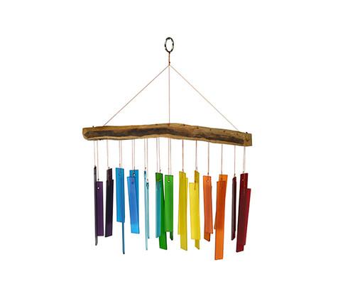 Gift Essentials Color Spectrum & Driftwood Wind Chime GEBLUEG560