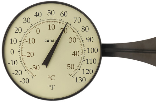 Weems & Plath Conant Large Dial Bronze Patina Finish Thermometer CCBT10BP
