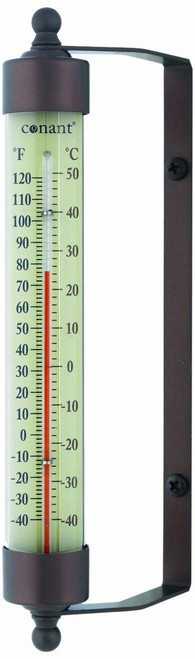 Weems & Plath Conant Bronze Patina Finish Indoor Outdoor Thermometer CCBT1BP