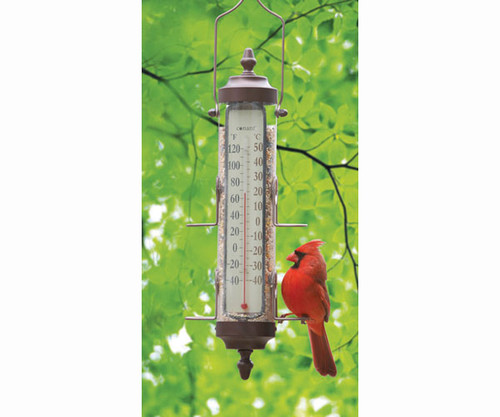 Weems & Plath Conant Bird Feeder Thermometer 1 lb capacity Bronze Patina CCBBFT26BP