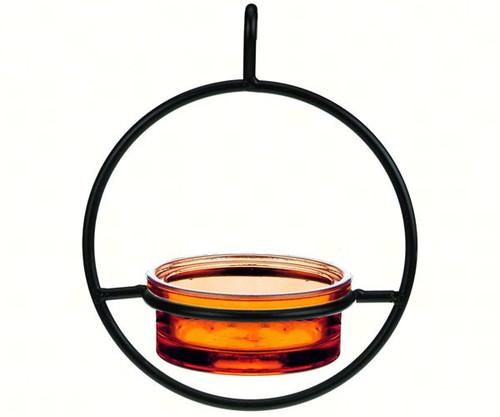Couronne Co Orange Sphere Hanging Bird Feeder COURM04520008