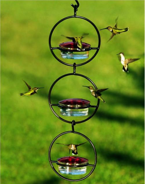 Couronne Black Triple Sphere Hummingbird Feeder COURM045301