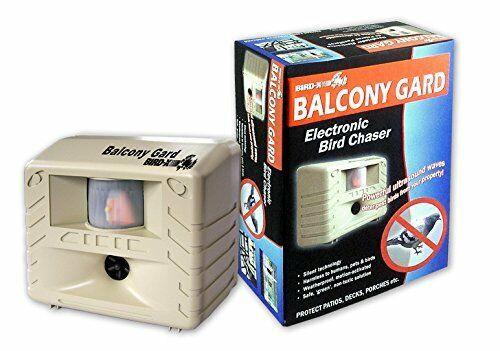 Bird X Balcony Guard Solar Ultrasonic Pest Bird Repeller BIRDXBG
