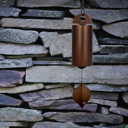 "Woodstock Chimes 40"" Heroic Windbell Grand Antique Copper Windchime HWLC"