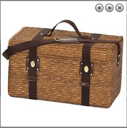 Oak and Olive Woodstock 4 Fern Lining 4 Person Picnic Basket