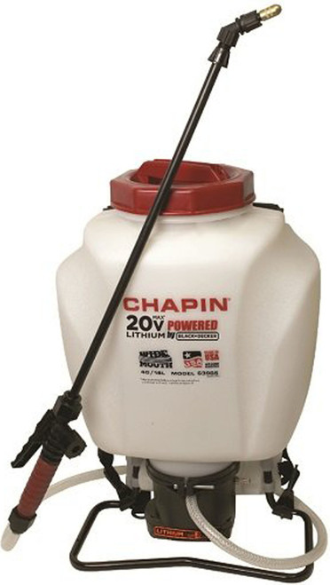 Chapin 63985 4 Gallon Wide Mouth 20v Battery Operated Backpack Sprayer