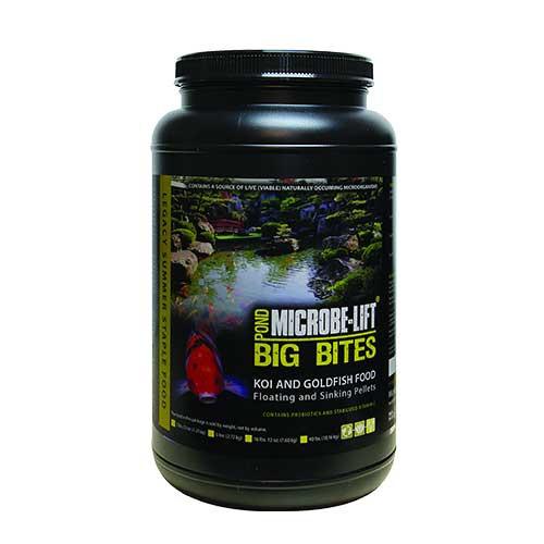 Microbe-Lift Legacy Big Bites Koi & Goldfish Food 2 lb 12 oz MLLBBMD