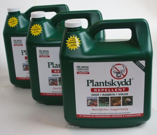Plantskydd 3 Pack Pre-Mixed Deer Rabbit Elk Moose Repellent 1.3 gallon Ready To Use